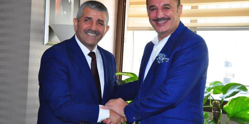 MHP'li yeni başkana ziyarette yerel seçimler konuşuldu