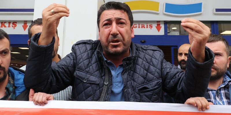 Samsun'da tazminat alamadıklarını söyleyen işçiler yürüdü