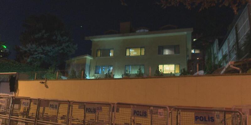 Polis konsolosluk etrafındaki güvenlik kamera kayıtlarını inceliyor