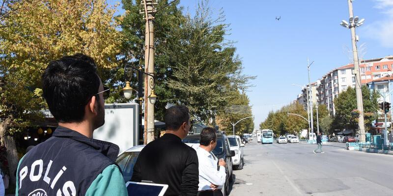 Kütahya'da drone ile trafik denetimi