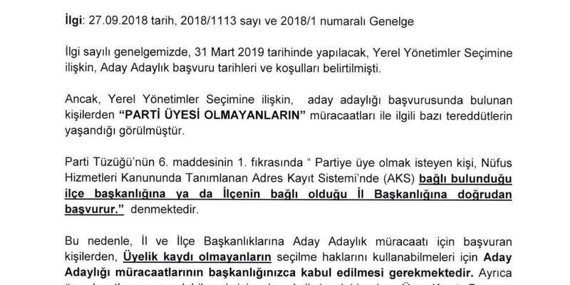 CHP'den örgütlere 'Parti üyesi olmayanlar da aday olabilir' yazısı