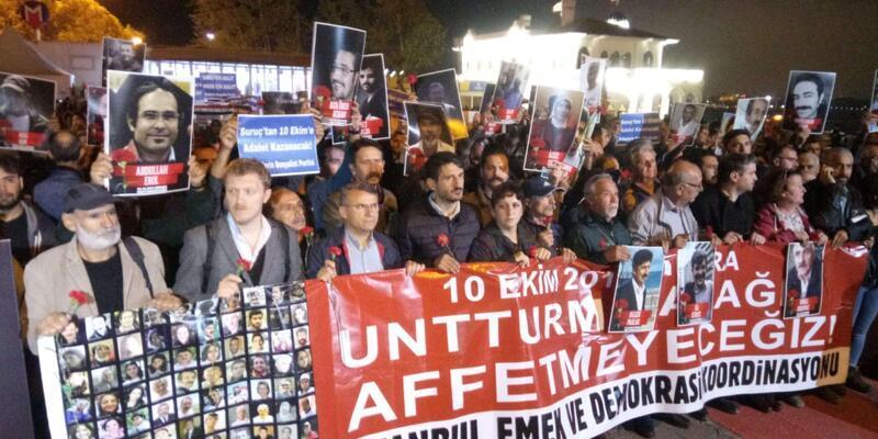 Ankara'daki patlamalarda hayatını kaybedenler anıldı
