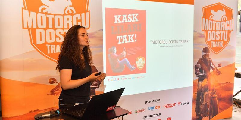 """""""Motorcu Dostu Trafik"""" projesi Çanakkale'de"""