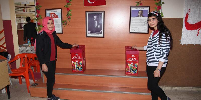 Seydişehir Belediyesinden, okullarda atık pil toplama kampanyası