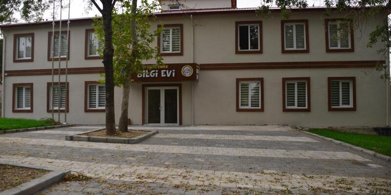 Erbaa'da Yunus Emre Bilgi Evi inşasında sona gelindi