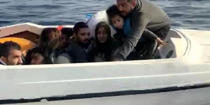 Bodrum'da teknede 12 kaçak göçmen yakalandı