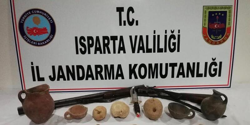 Isparta'da tarihi eser operasyonu