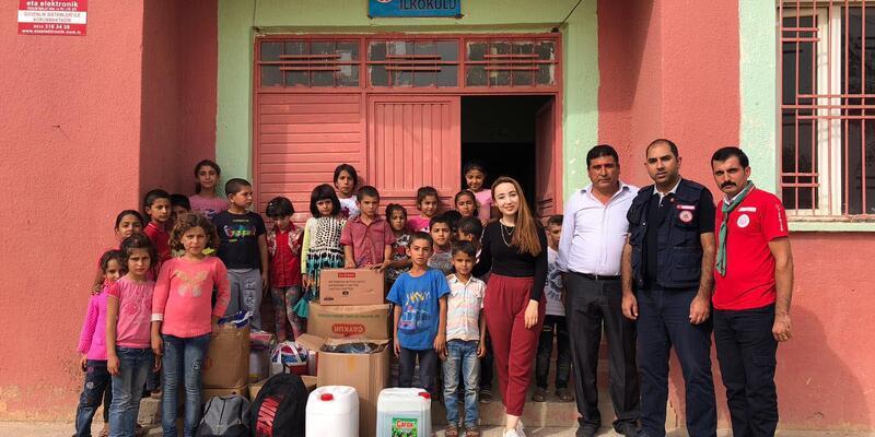 Osmaniye'den Suruç'taki öğrencilere eğitim yardımı
