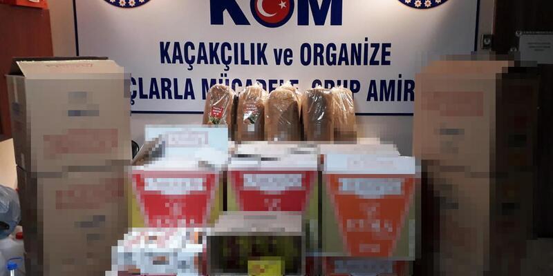 Aliağa'da kaçak tütün ürünleri operasyonu