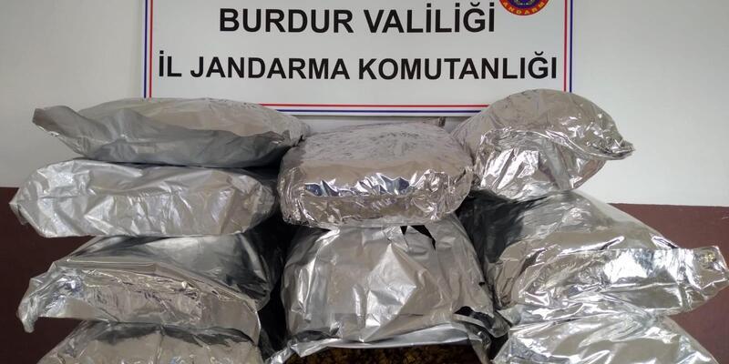 Burdur'da 50 kilo skunk ele geçirildi