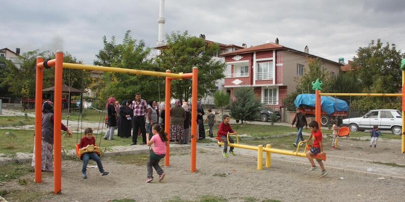 Mahalle sakinlerinin çocuk parkı direnişi