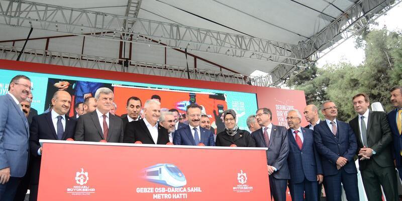 TBMM Başkanı Yıldırım, Gebze- Darıca metro hattının temel atma törenine katıldı