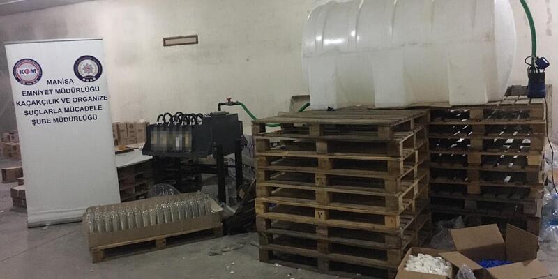 Manisa'da kaçak içki imalatına 7 gözaltı