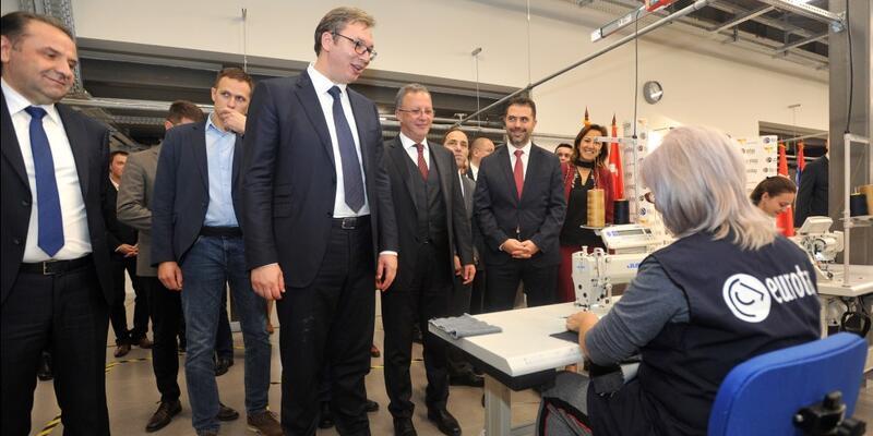 Sırbistan Cumhurbaşkanı Eurotay fabrikasını ziyaret etti