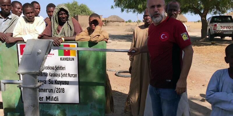 Yüksekova şehitleri adına Kamerun'da su kuyusu açıldı