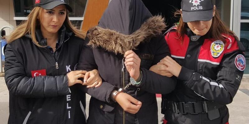 14 yıl hapis cezasıyla aranan kadın, pazarda yakalandı