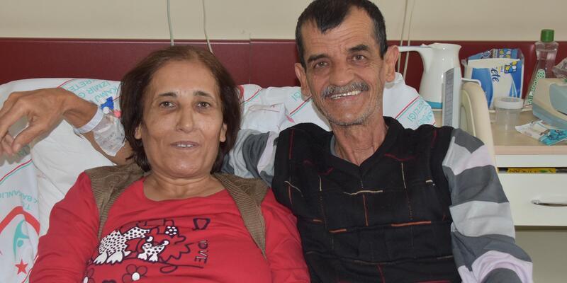 35 yıllık eşine böbreğini verdi