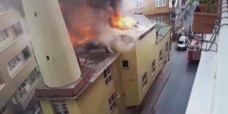 Ek fotoğraflar// Şişli'de cami yangını