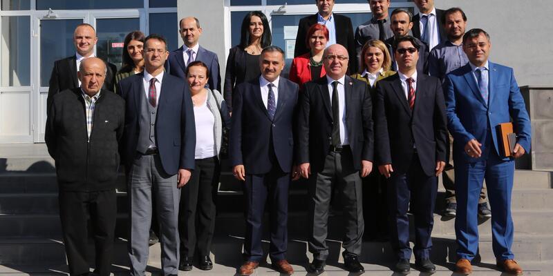 Kayseri Üniversitesi Rektörü Karamustafa Develi'de