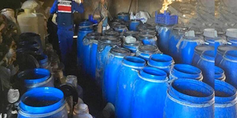 Çorum'da 23 bin litre sahte içki ele geçirildi