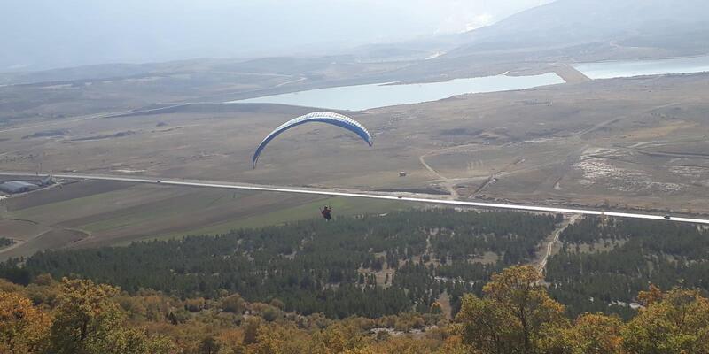 Seydişehir, yamaç paraşütünün yeni gözdesi