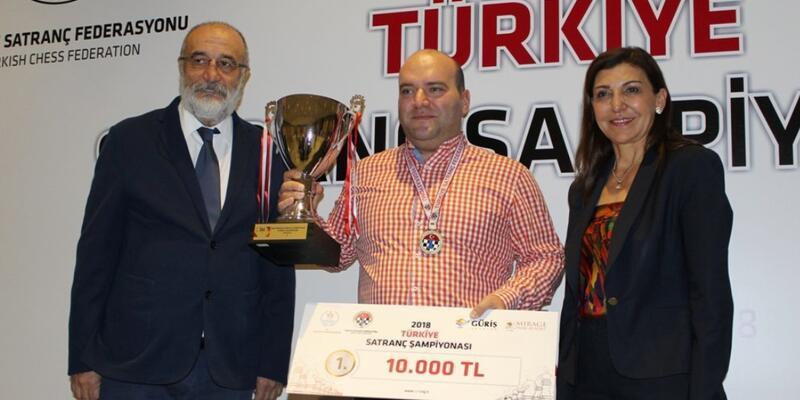 2018 Türkiye Satranç Şampiyonu Cemil Gülbaş oldu