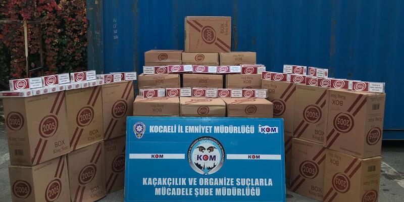 77 bin 500 paket gümrük kaçağı sigara ele geçirildi