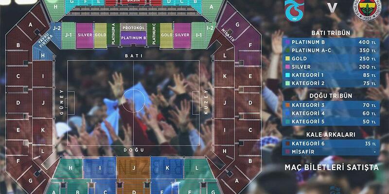 Trabzonspor'un Fenerbahçe maçı biletleri satışa sunuldu