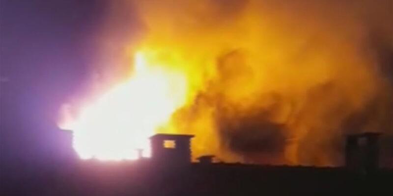 Bursa'da yangın: Alevler gökyüzüne ulaştı