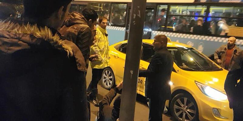 Taksi sürücüsünden turiste darp iddiası