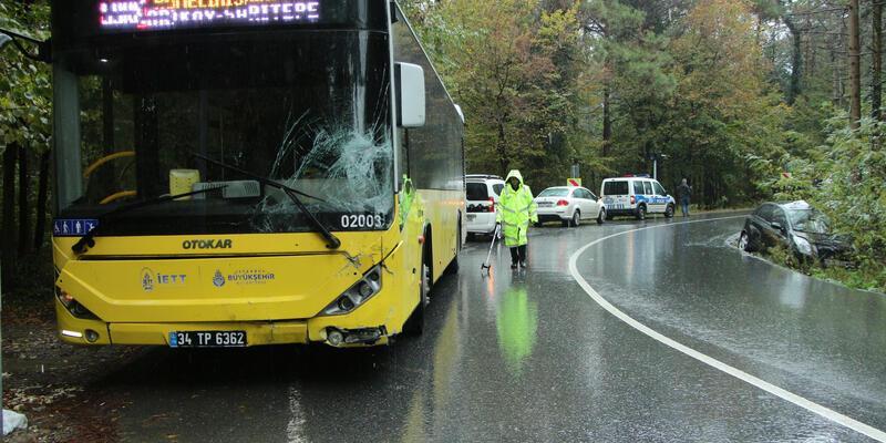 Sarıyer'de yağmur kazası: 1 ağır yaralı