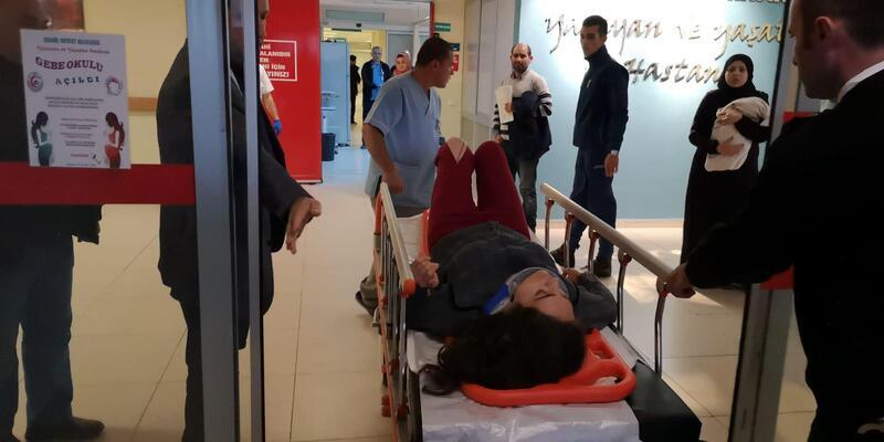 Cam silen kadın, 3'üncü kattan düşerek ağır yaralandı