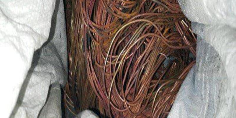 Kablo hırsızlığı şüphelisi polis takibiyle yakalandı