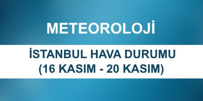 İstanbul hava durumu 16 Kasım - 20 Kasım | Meteoroloji beş günlük hava durumu