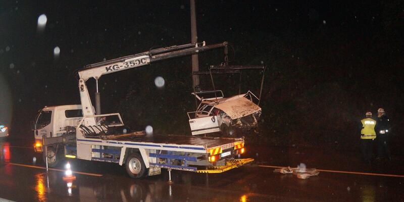 Trabzon'da feci kaza: 1 ölü, 6 yaralı