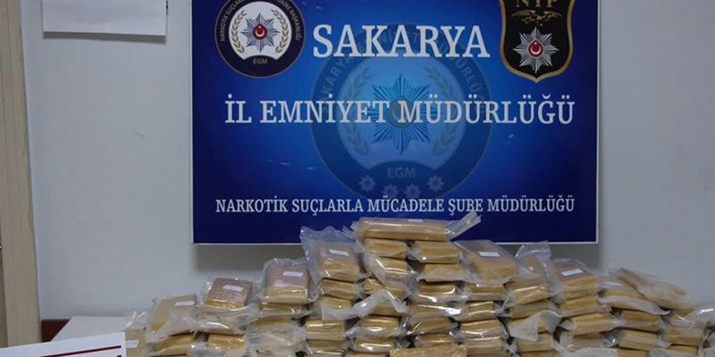 Sakarya'da 39 kilo eroin ele geçirildi