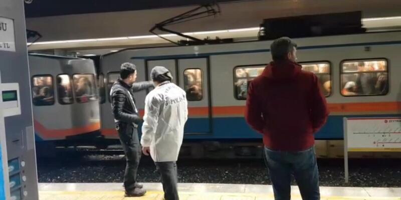 Raylara düşen kadın nedeniyle Metro seferleri durduruldu