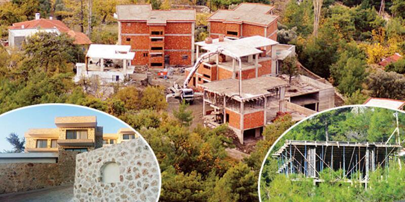 Kaş'ta kaçak villa inşaatları arttı