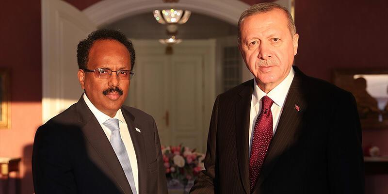 Cumhurbaşkanı Erdoğan, Somali Cumhurbaşkanı ile görüştü