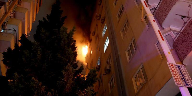 Adana'da yangın paniği
