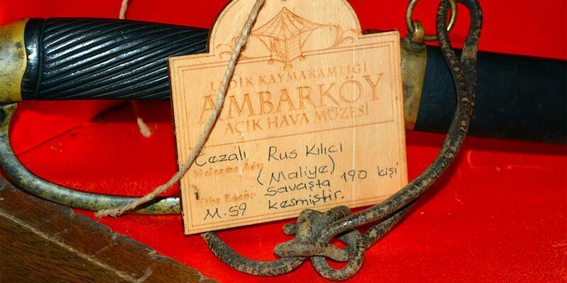 Ambarköy Açık Hava Müzesi'nde, 'Cezalı Rus Kılıcı'na ilgi