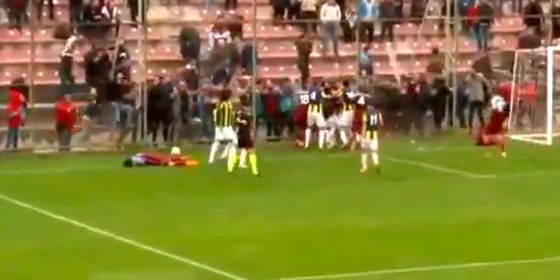 Trabzonspor-Fenerbahçe U21 maçında kavga çıktı