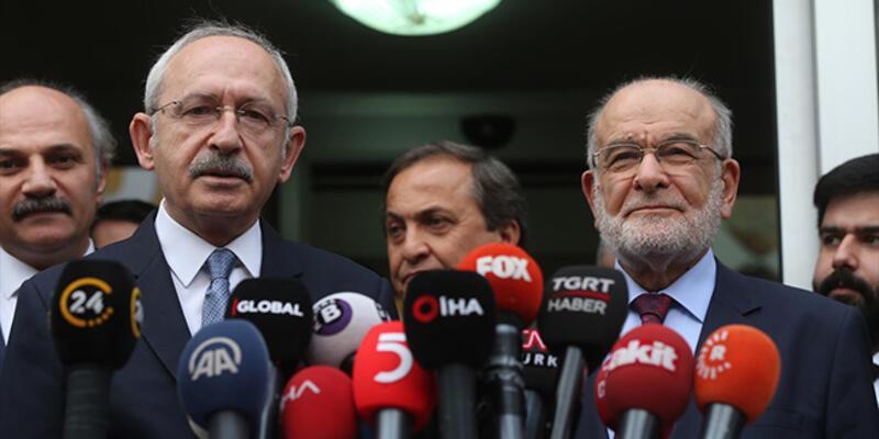 Kılıçdaroğlu-Karamollaoğlu görüşmesi sonrası ortak açıklama: İttifak olmayacak