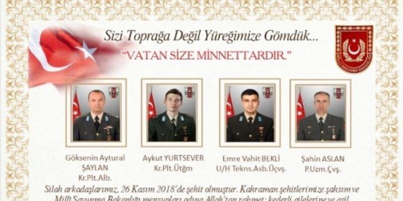 Milli Savunma Bakanlığı: Sizi toprağa değil, yüreğimize gömdük