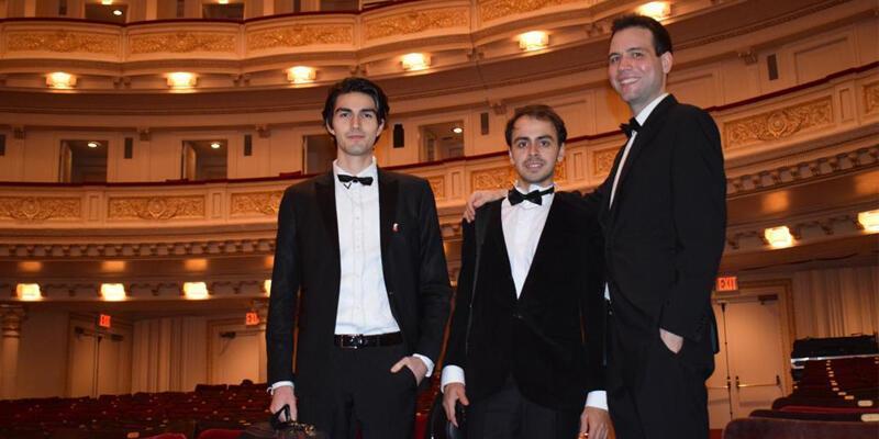 Çev Sanat'ın üç genç yeteneği New York Carnegie Hall'da konser verdi