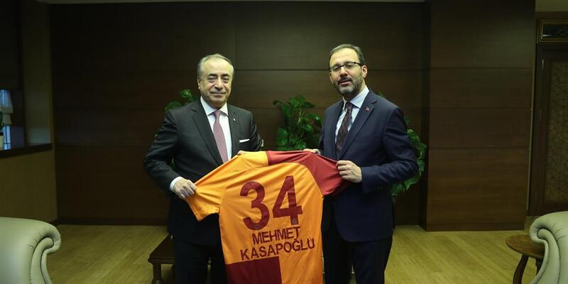 Bakan Kasapoğlu Mustafa Cengiz'i kabul etti