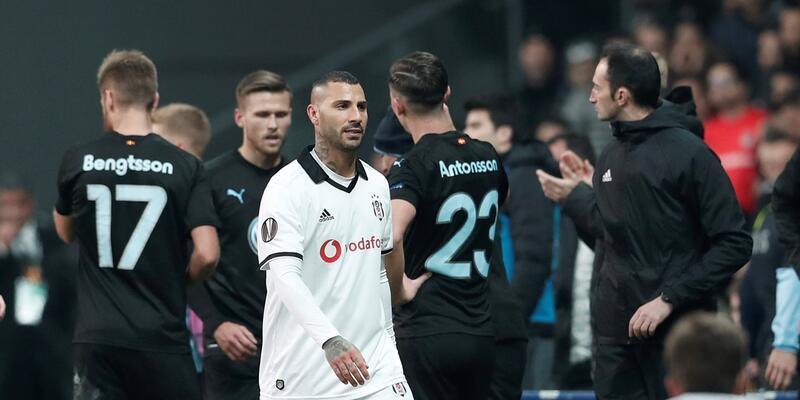 Quaresma Beşiktaş'ta 8. kırmızı kartını gördü
