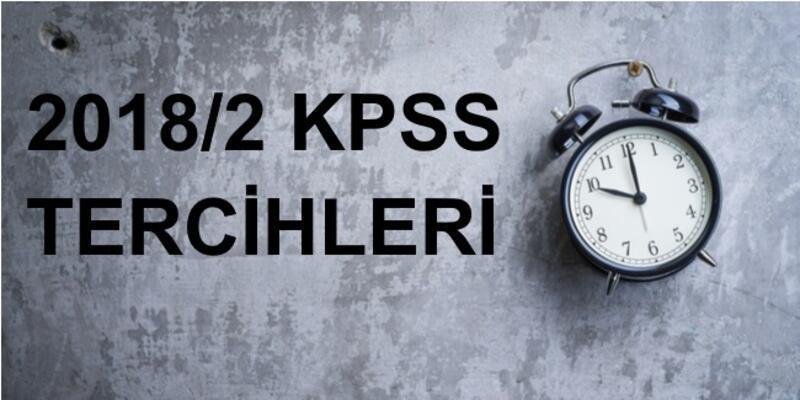 2018/2 KPSS tercih sonuçları ÖSYM tarafından açıklandı!