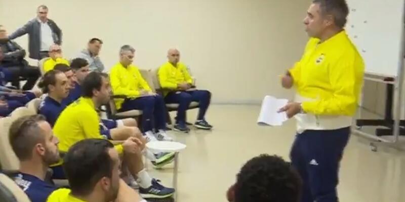 Ersun Yanal'dan futbolculara motivasyon konuşması