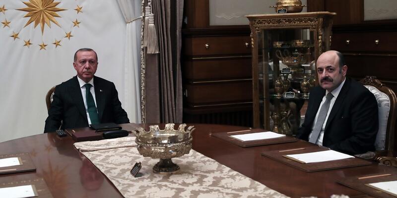 Erdoğan YÖK Başkanı Saraç ile görüştü